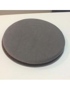 Base giratoria para silla color gris